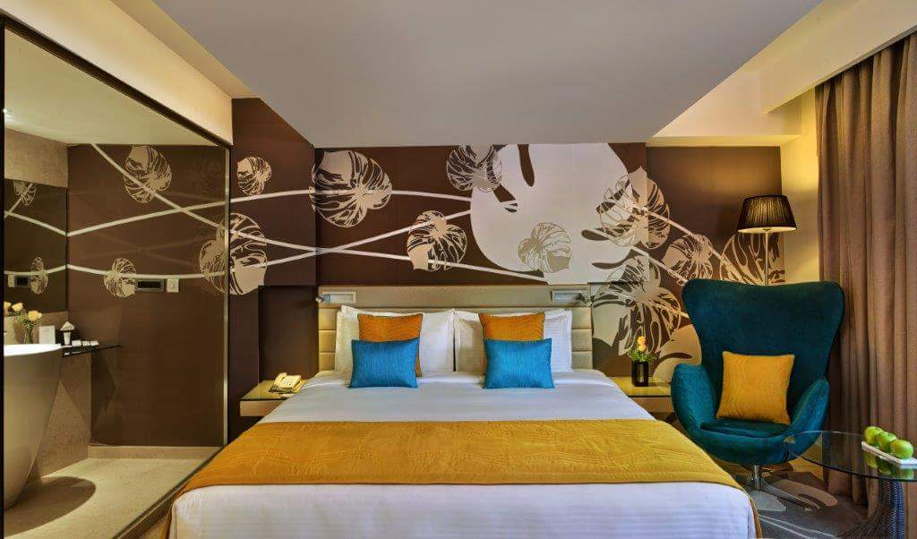 Bedroom With Beautiful Wall Art by R. Gautam Jain Bedroom Contemporary | Interior Design Photos & Ideas