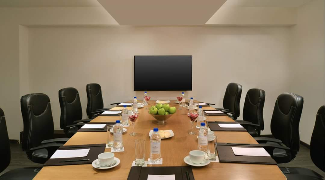 Conference Room With Black Chairs by R. Gautam Jain Modern | Interior Design Photos & Ideas