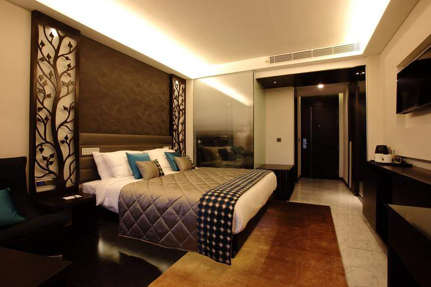 Bedroom With Tree Wall Decor by R. Gautam Jain Bedroom Contemporary | Interior Design Photos & Ideas
