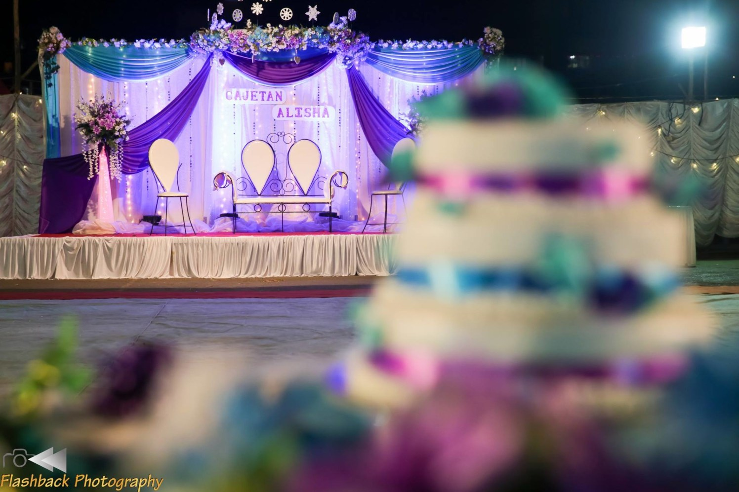 Elegant Wedding Stage Decor With Soft Lighting by Lloyd Bangera Wedding-decor | Weddings Photos & Ideas