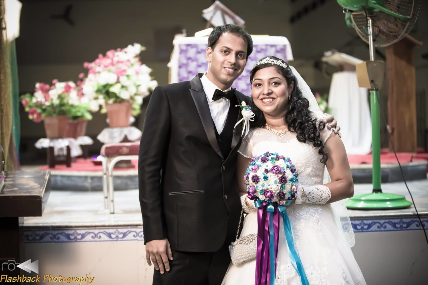 Bride and Groom Wearing Elegant White and Black Attire by Lloyd Bangera Wedding-photography | Weddings Photos & Ideas