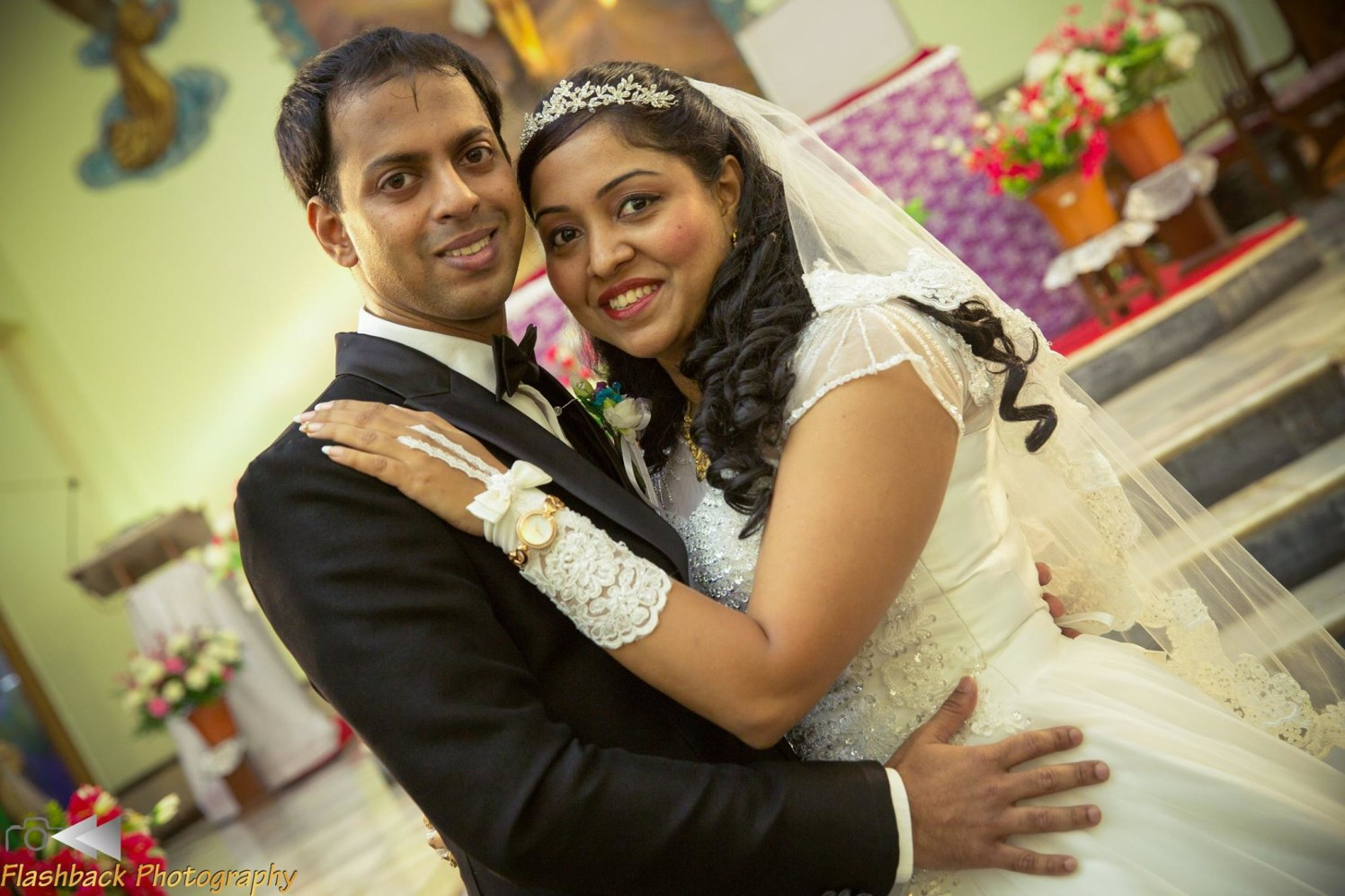 Bride and Groom Wearing Beautiful Black and White Attire by Lloyd Bangera Wedding-photography | Weddings Photos & Ideas