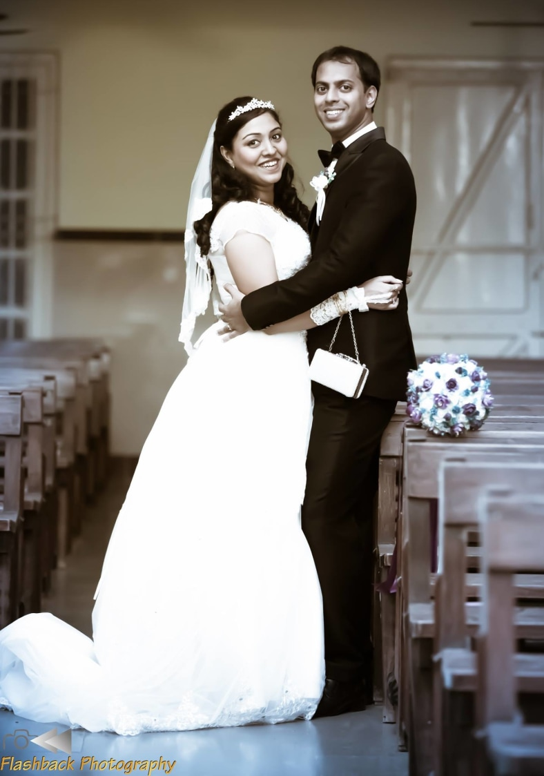 Bride and Groom Wearing Alluring Black and White Makeup by Lloyd Bangera Wedding-photography | Weddings Photos & Ideas