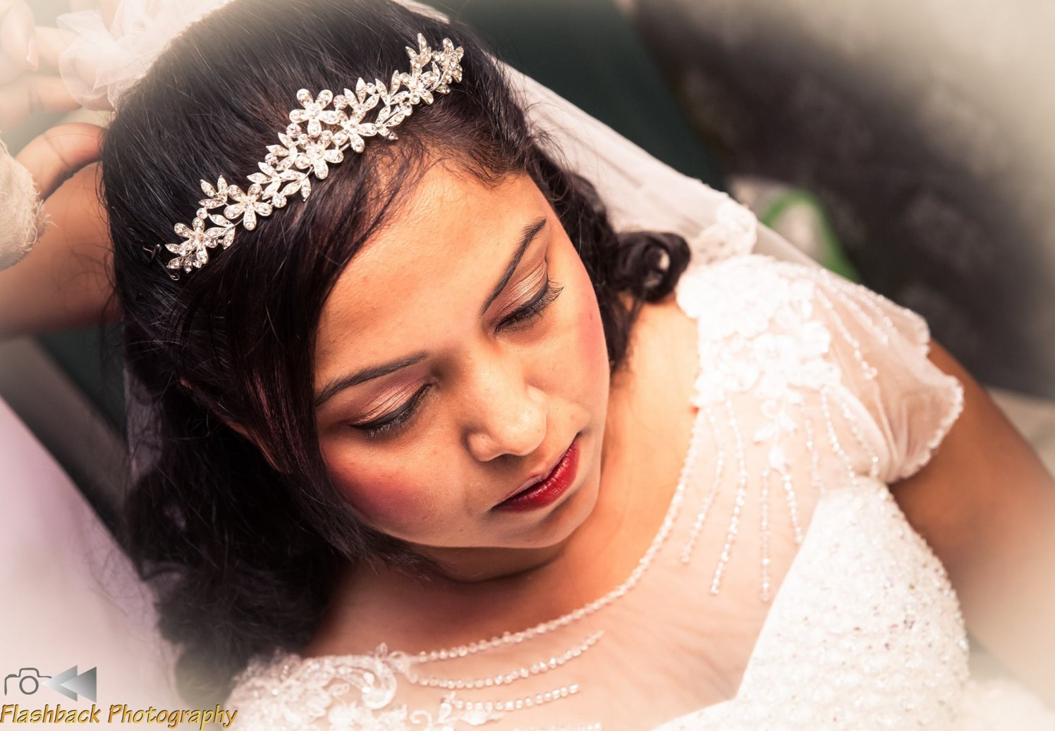 Bride Wearing Subtle Pink Eye Makeup by Lloyd Bangera Bridal-makeup | Weddings Photos & Ideas