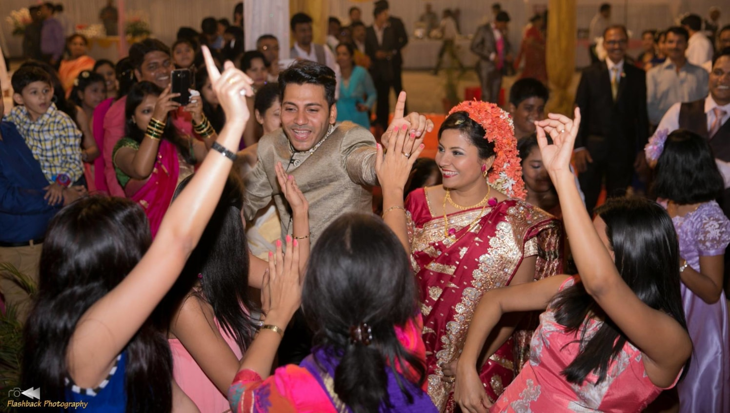 Bride and Groom Dancing With Their Wedding Guests by Lloyd Bangera Wedding-photography | Weddings Photos & Ideas