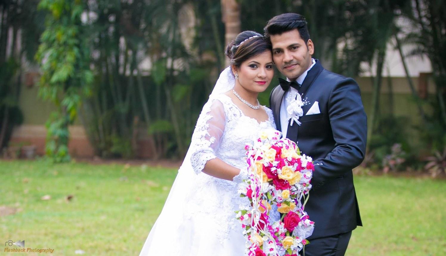 Bride and Groom Wearing Elegant Wedding Day Attire by Lloyd Bangera Wedding-photography | Weddings Photos & Ideas