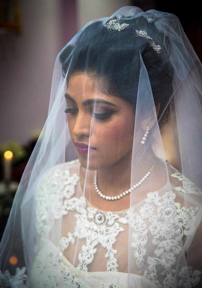 Christian Bride Donning Elegant Veiled Look by Lloyd Bangera Wedding-photography | Weddings Photos & Ideas