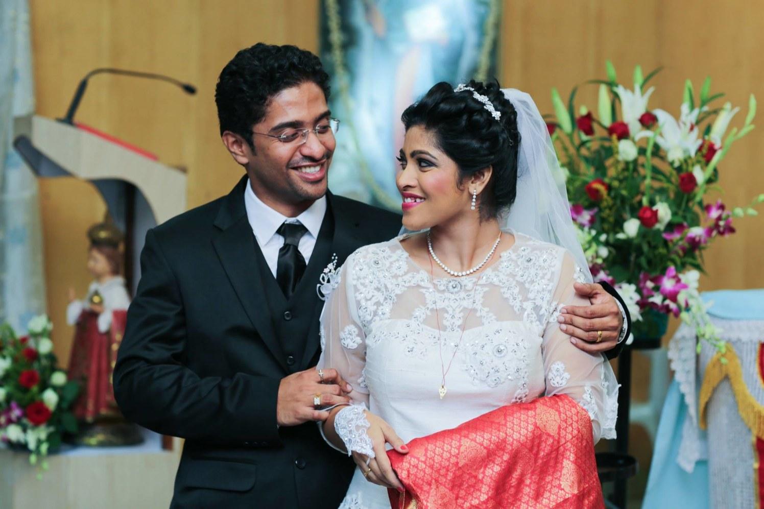 Christian Bride and Groom Wearing Appealing Formal Attire by Lloyd Bangera Wedding-photography | Weddings Photos & Ideas
