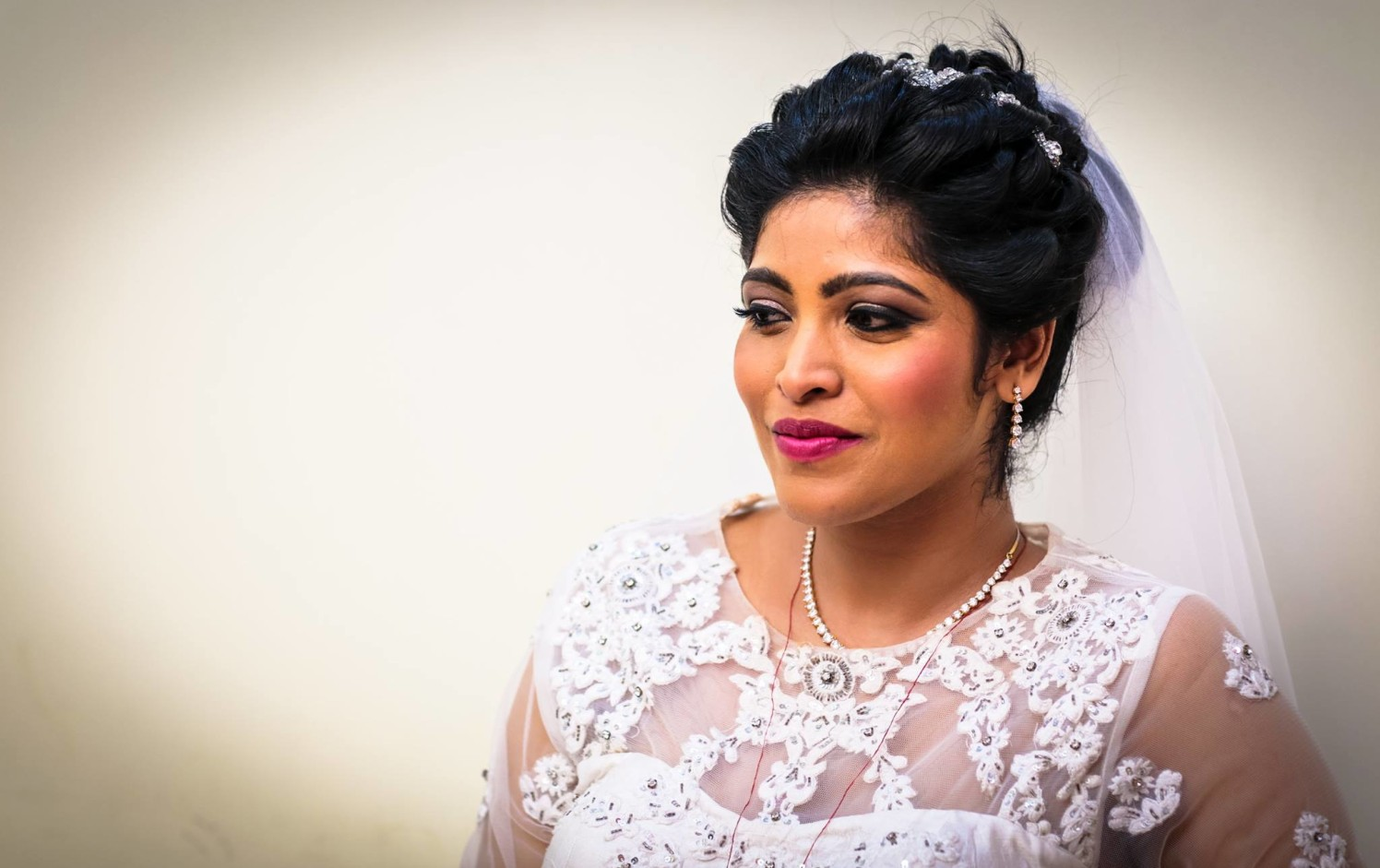 Bride Donning Subtle Grey Eye Makeup by Lloyd Bangera Bridal-makeup | Weddings Photos & Ideas