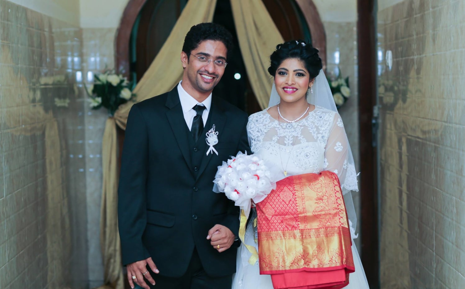 Christian Bride and Groom Looking Appealing in Formal Wear by Lloyd Bangera Wedding-photography | Weddings Photos & Ideas