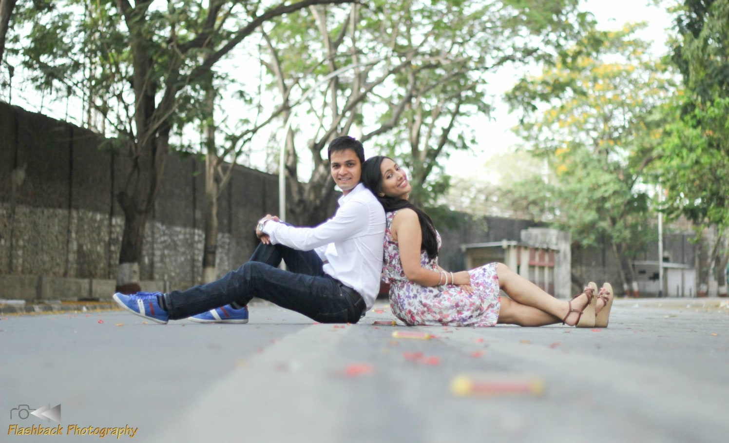 Bride and Groom Pose by the Street by Lloyd Bangera Wedding-photography | Weddings Photos & Ideas