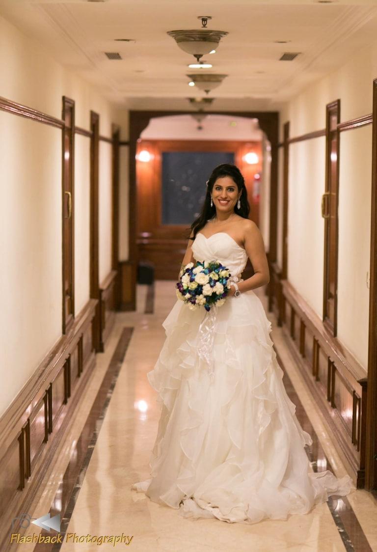Christian Bride Wearing White Net Ball Gown by Lloyd Bangera Wedding-dresses | Weddings Photos & Ideas