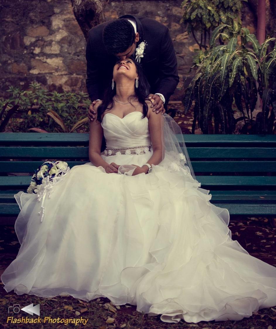 Bride and Groom Wearing Elegant White and Black  Attire by Lloyd Bangera Wedding-photography | Weddings Photos & Ideas