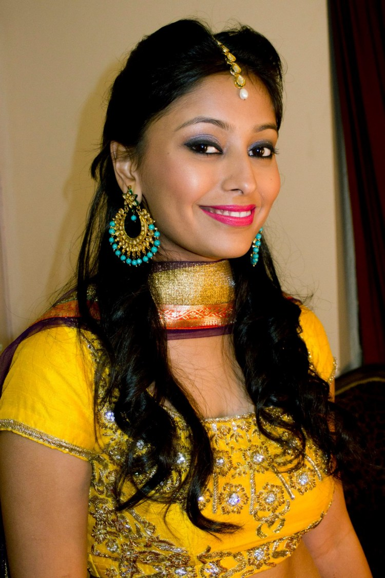 Perfect look for guest for haldi ceremony. by Anjum Bridal-makeup | Weddings Photos & Ideas