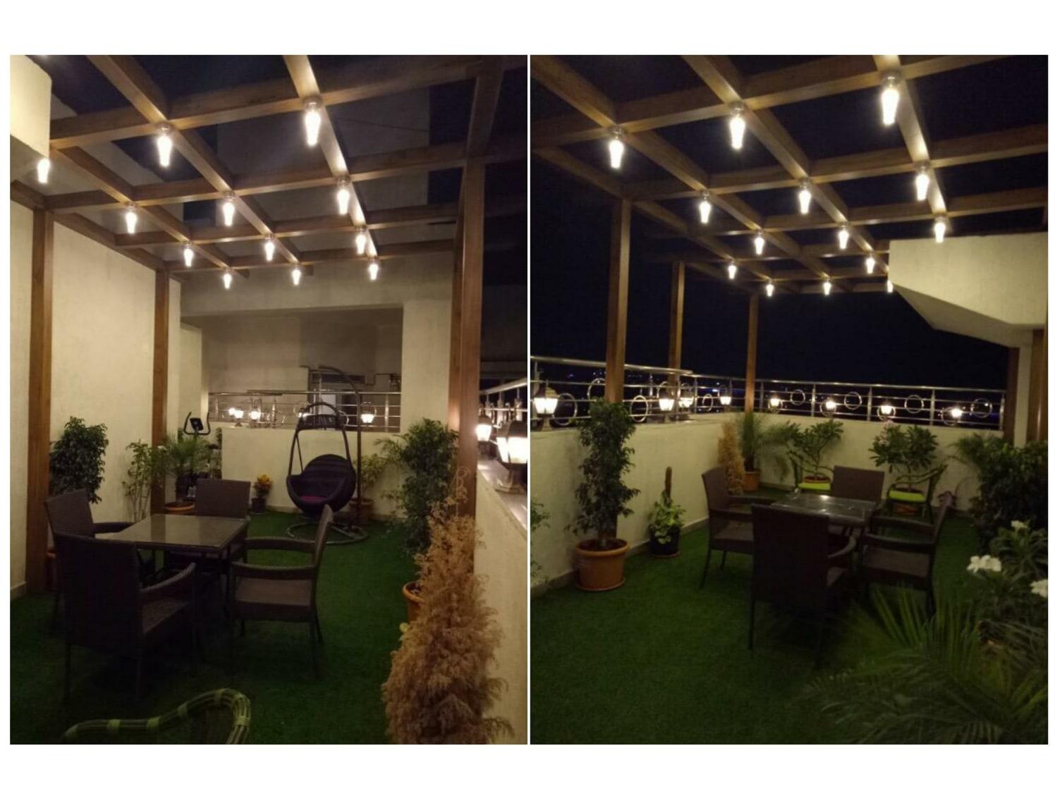 Rustic style terrace garden by ARN INTERIORS Open-spaces | Interior Design Photos & Ideas