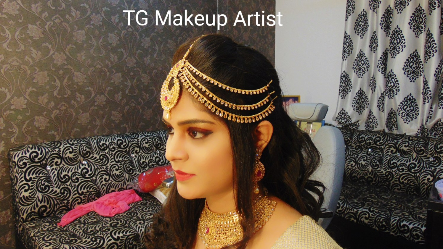 Hair accessory on point by Makeup Artist by Tamanna Ghori Wedding-photography | Weddings Photos & Ideas