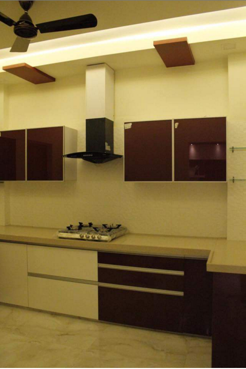 Modern Style Kitchen by Veer Interior Modular-kitchen Modern | Interior Design Photos & Ideas