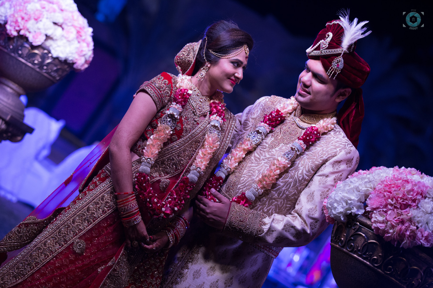 Wedding Day Couple Portrait by Anant Mishra Groom-wear-and-accessories | Weddings Photos & Ideas