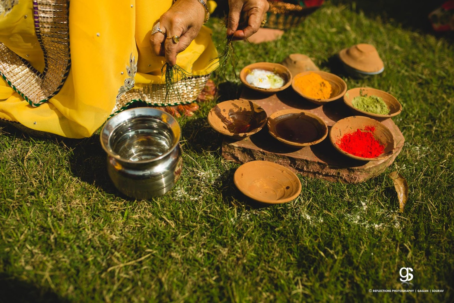 Essence of a haldi by Reflections Photography