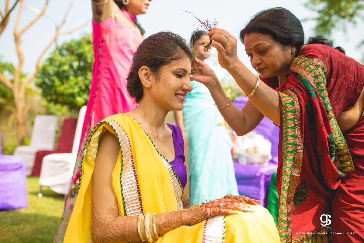 With a pinch of haldi! by Reflections Photography Wedding-photography | Weddings Photos & Ideas