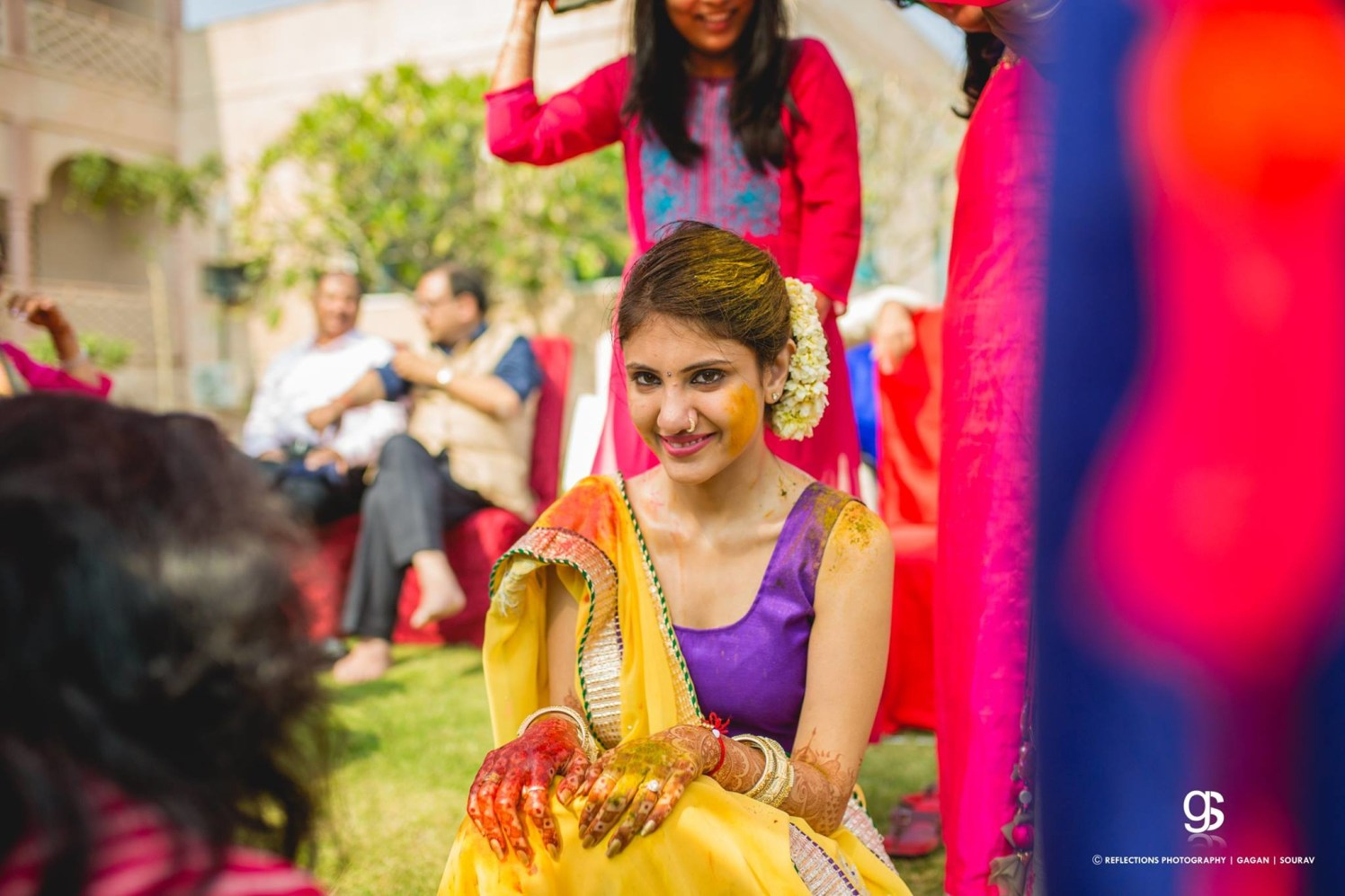 With a tint of turmeric! by Reflections Photography Wedding-photography | Weddings Photos & Ideas
