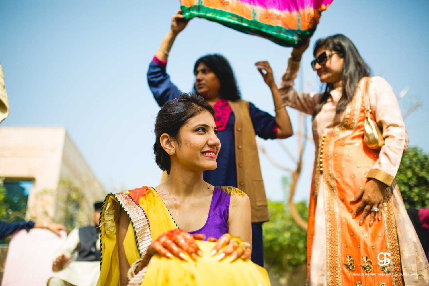 Ready to get drenched in the haldi! by Reflections Photography Wedding-photography | Weddings Photos & Ideas