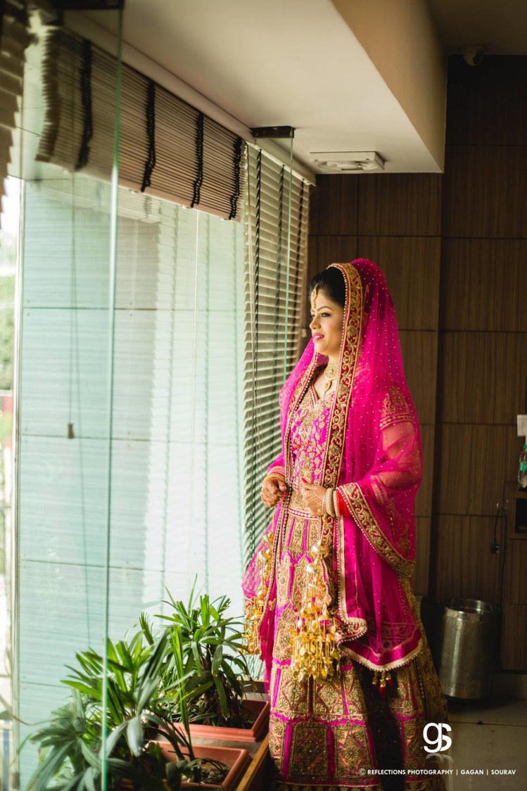 Deep Pink Tones of the Bridal Lehenga by Sourav Samanta Wedding-photography Wedding-dresses | Weddings Photos & Ideas