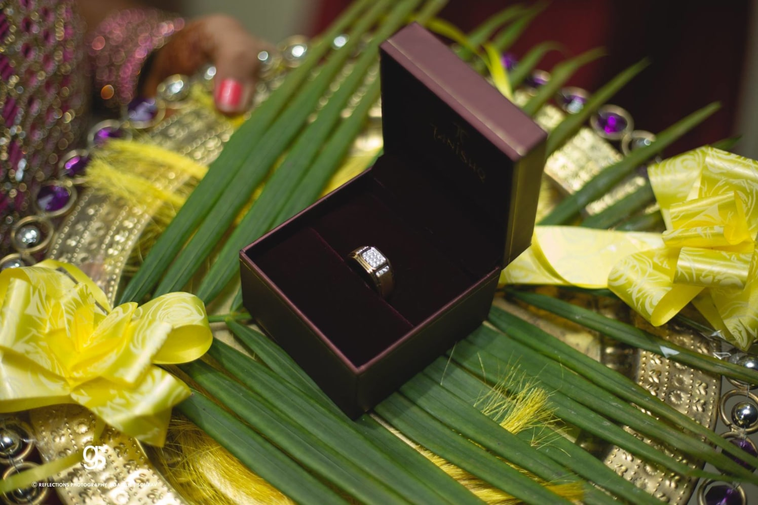 Beautiful Ring Shot of the Groom's Ring by Sourav Samanta Wedding-photography Groom-wear-and-accessories | Weddings Photos & Ideas