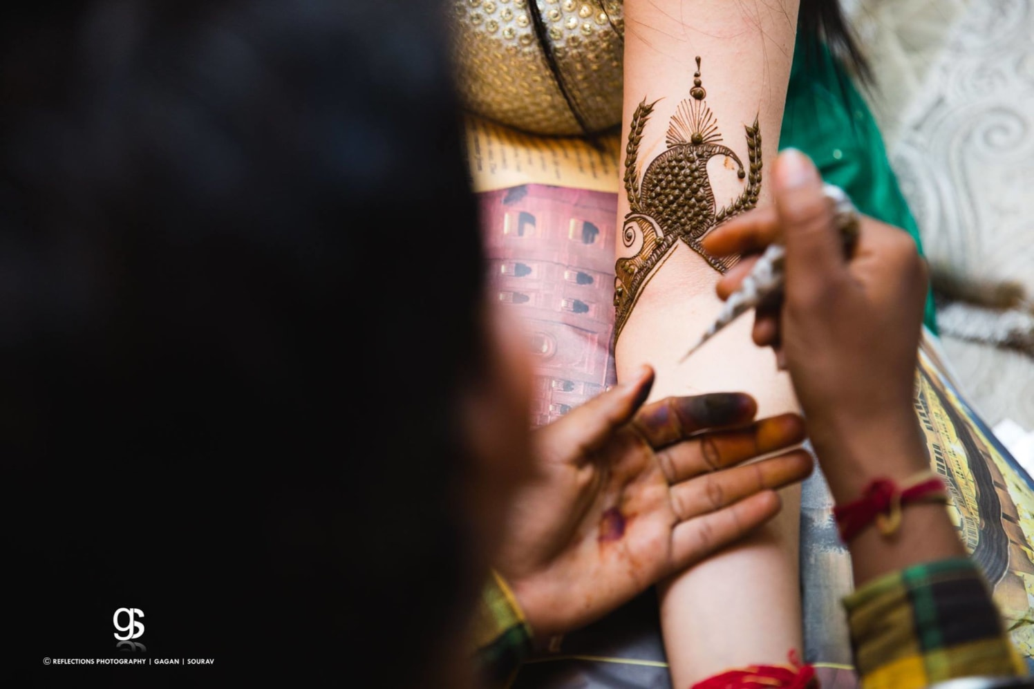 The onset of the mehendi! by Reflections Photography Wedding-photography | Weddings Photos & Ideas