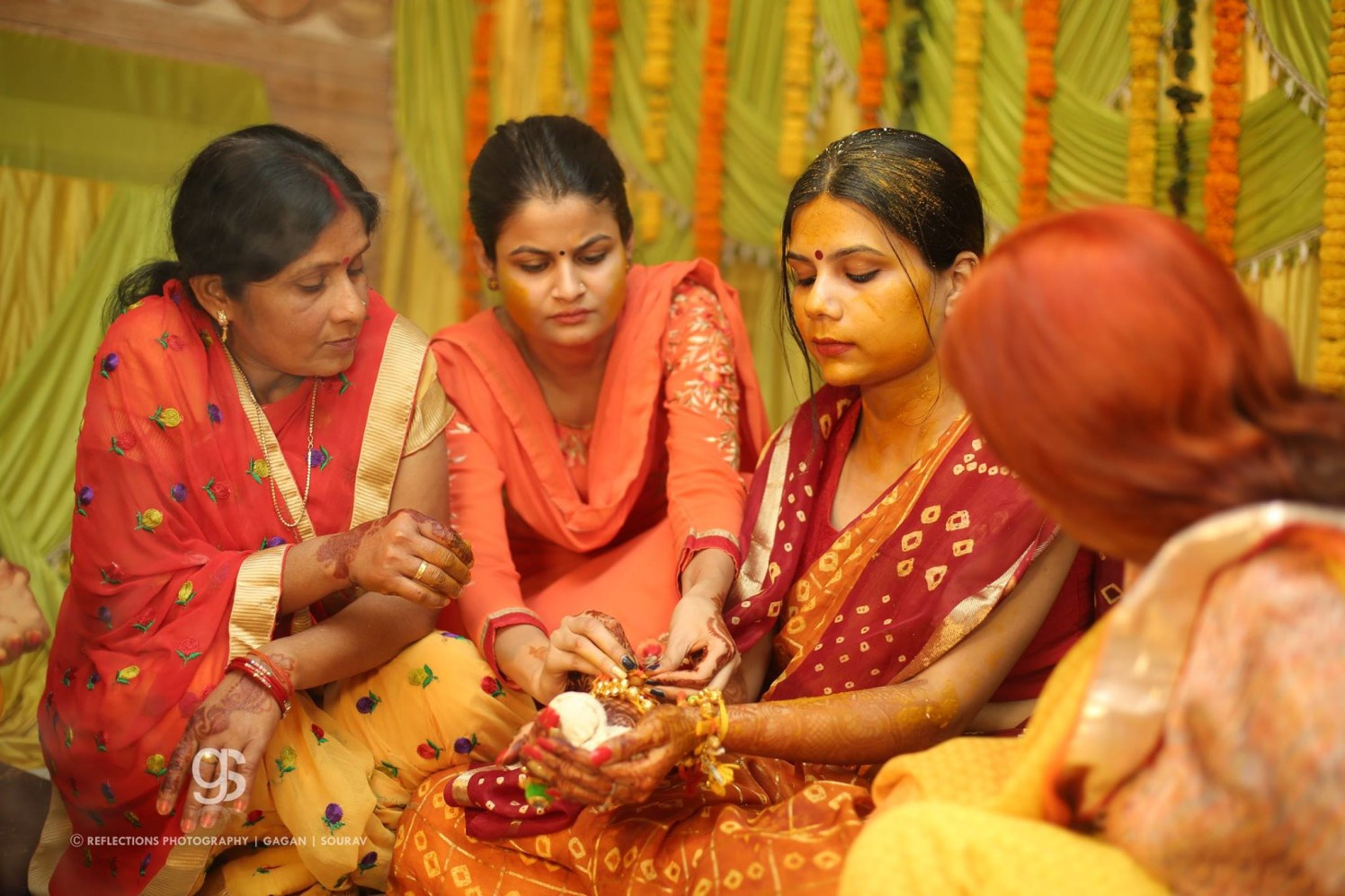 Turmeric glow! by Reflections Photography Wedding-photography   Weddings Photos & Ideas