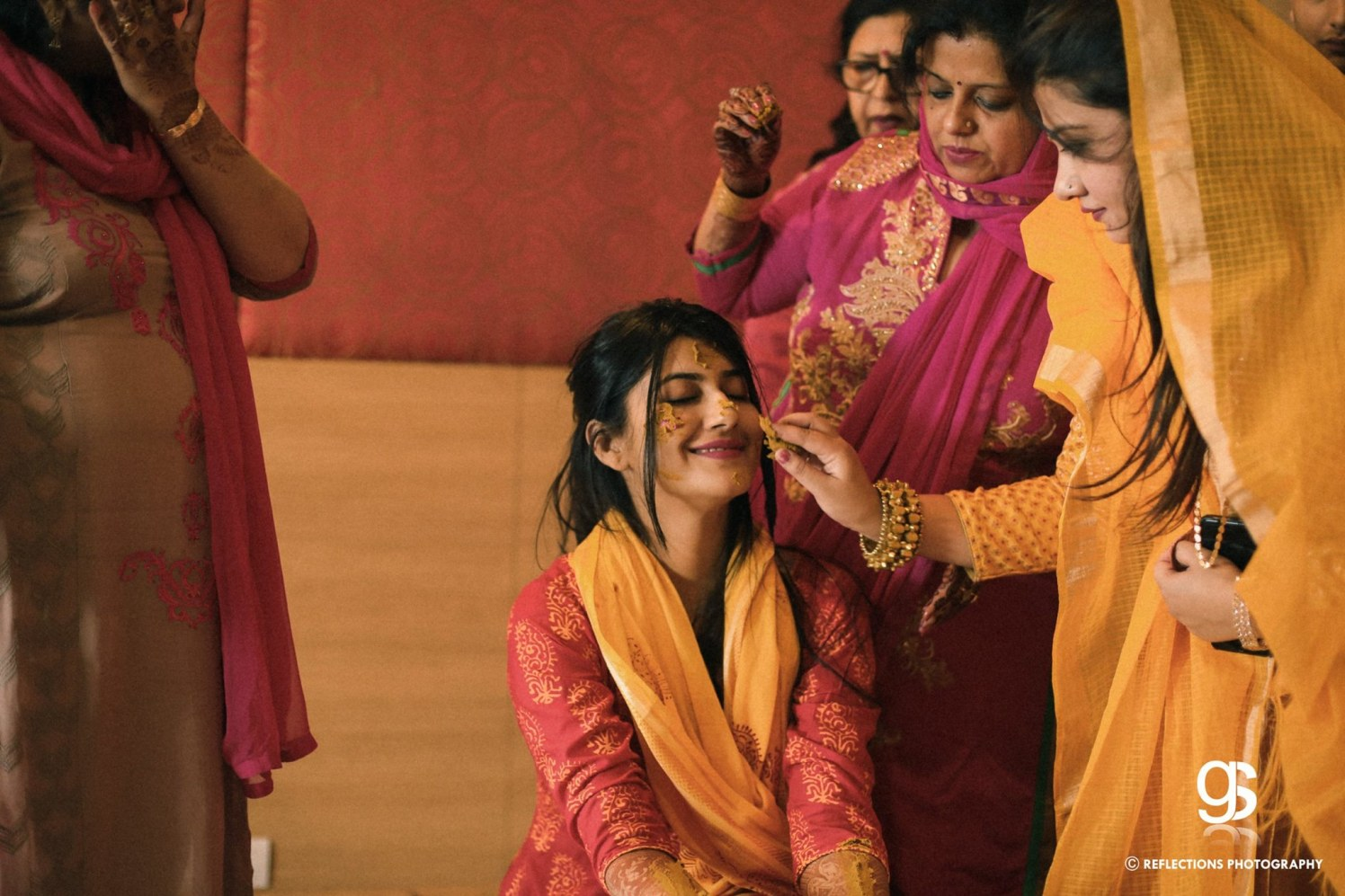 Pinch of turmeric by Reflections Photography Wedding-photography | Weddings Photos & Ideas