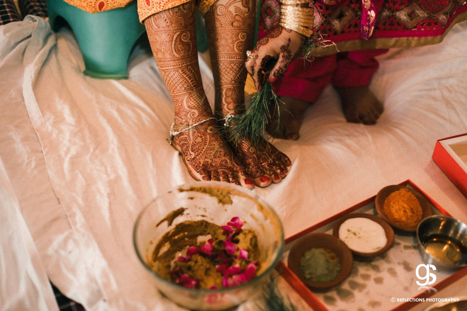 Henna beauty of a newly married! by Reflections Photography Wedding-photography | Weddings Photos & Ideas