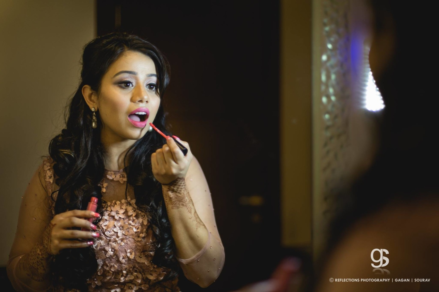 Donning that perfect pout! by Reflections Photography Wedding-photography | Weddings Photos & Ideas