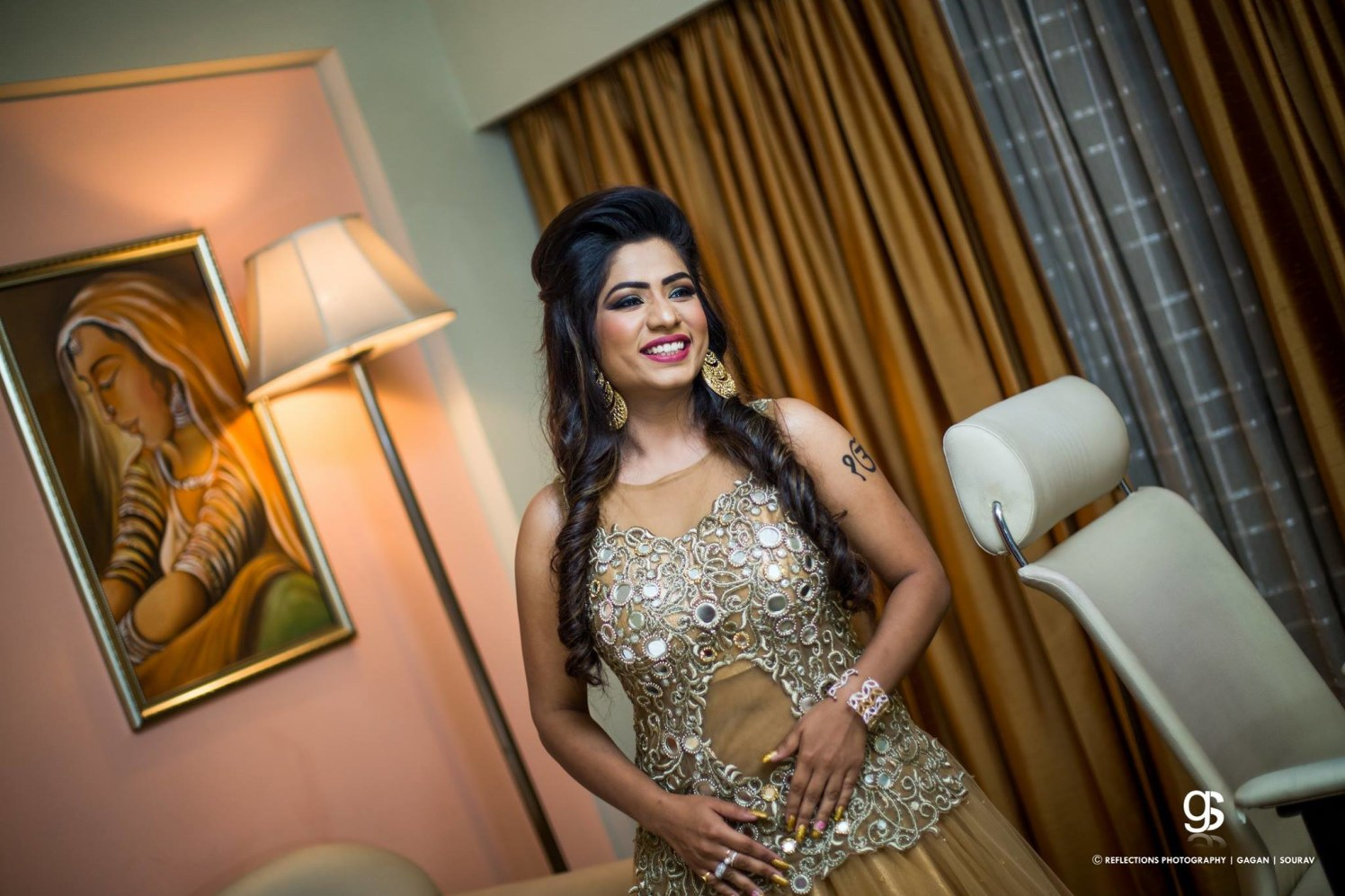 The bride in her widest glee! by Reflections Photography Wedding-photography | Weddings Photos & Ideas
