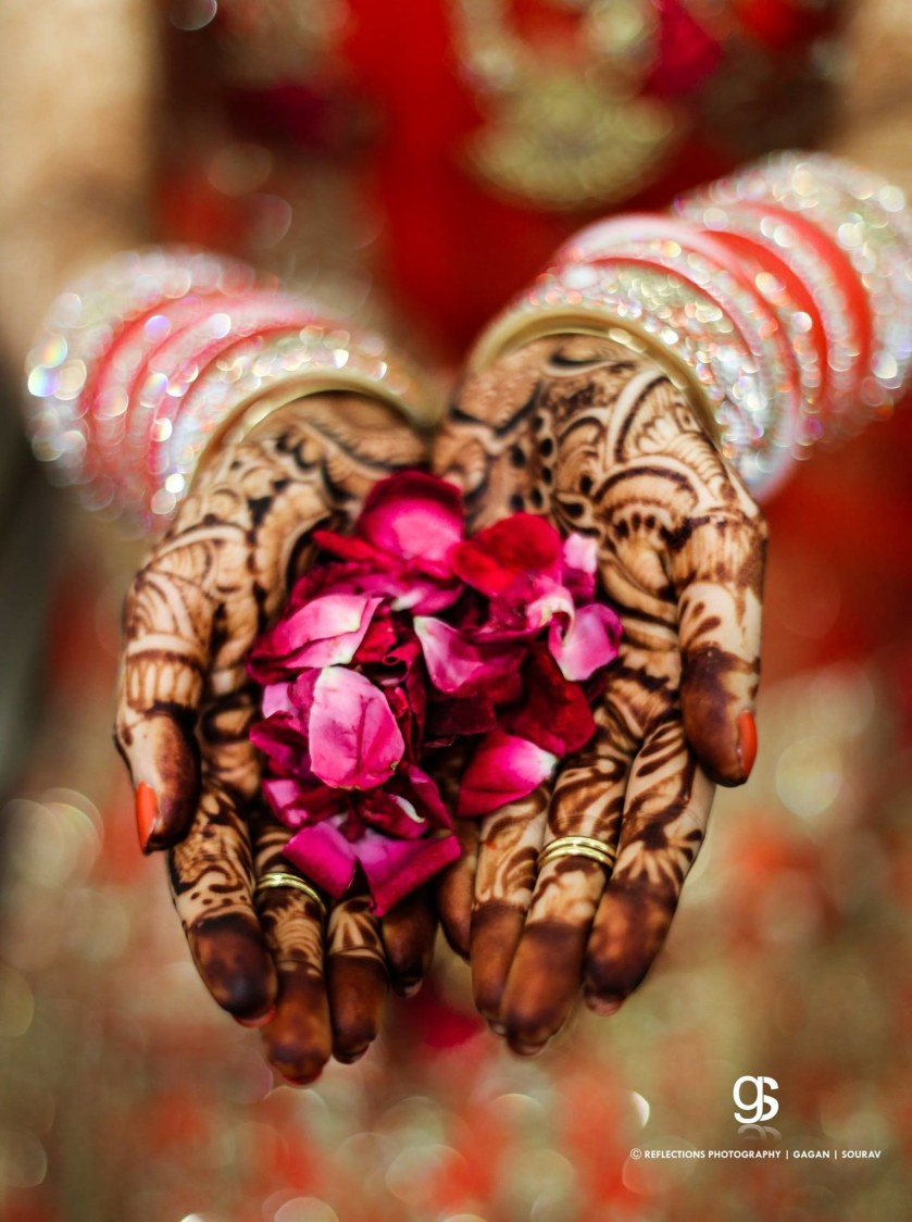 Roses and heena! by Reflections Photography Wedding-photography | Weddings Photos & Ideas