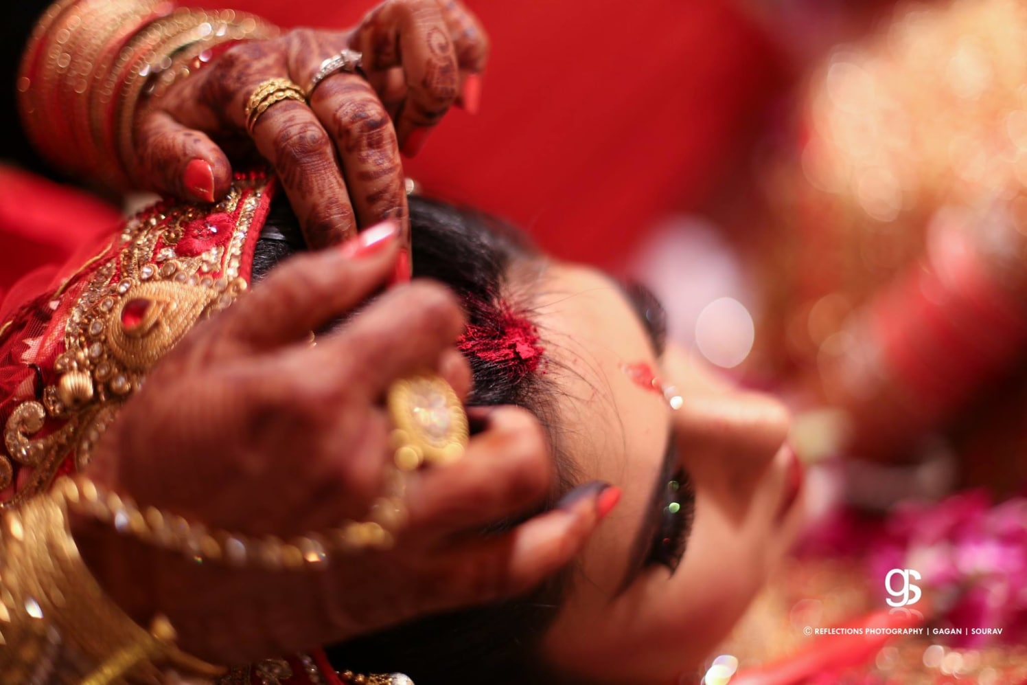 Sacred vermilion! by Reflections Photography Wedding-photography | Weddings Photos & Ideas