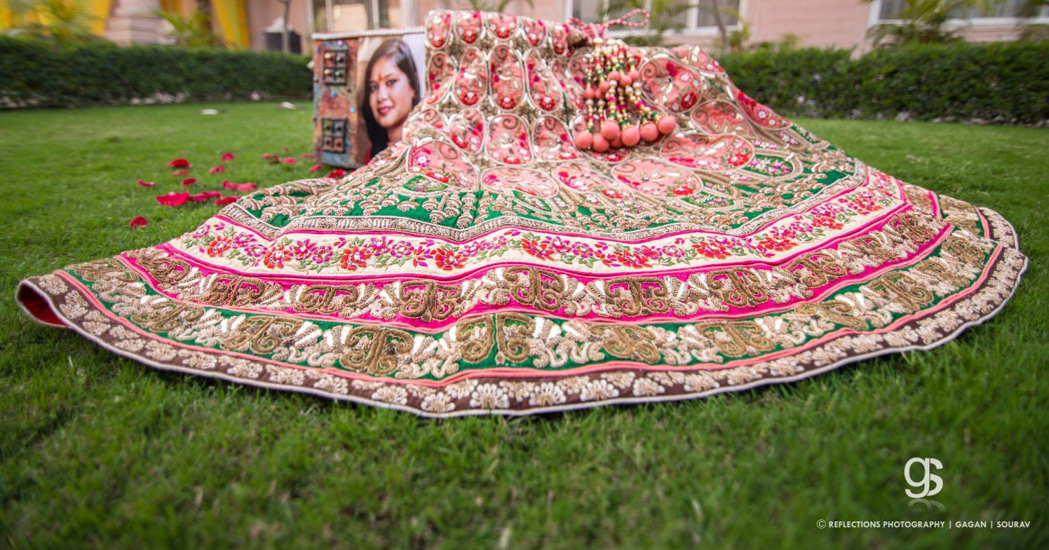 Diffrent bridal lengha! by Reflections Photography