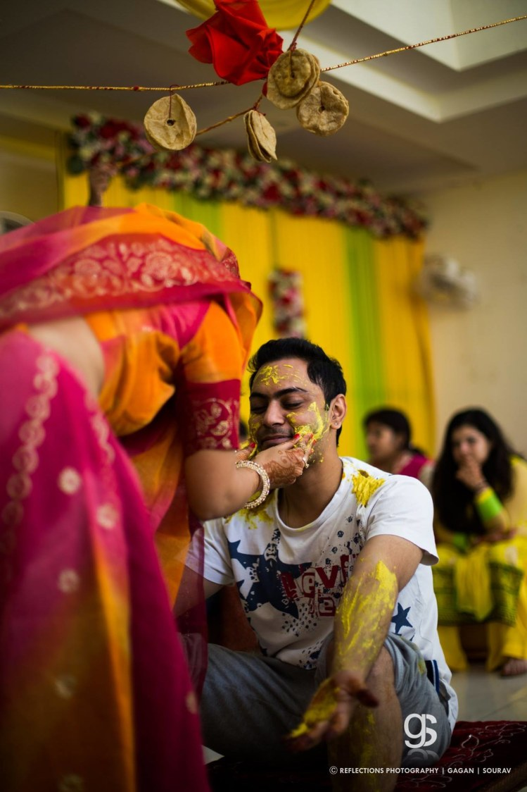 The haldi ceremony of the groom! by Reflections Photography Wedding-photography | Weddings Photos & Ideas