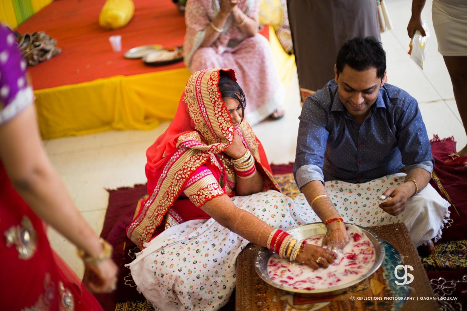 Indian wedding ceremony, finding the ring! by Reflections Photography Wedding-photography | Weddings Photos & Ideas