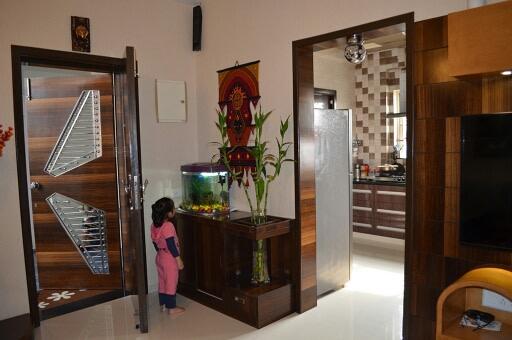 Contemporary minimalistic hallway by Irashri Infrastructure Modern Contemporary | Interior Design Photos & Ideas