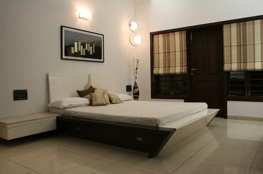 Minimalistic Bedroom by Irashri Infrastructure Modern Contemporary Minimalistic | Interior Design Photos & Ideas