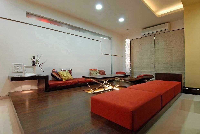 Wooden Flooring With Modern Sleek Furniture In Living Room by DD Jour Living-room Modern | Interior Design Photos & Ideas