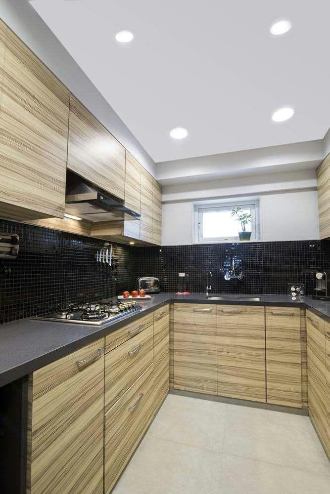 U Shaped Modular Kitchen by DD Jour Modular-kitchen Modern | Interior Design Photos & Ideas