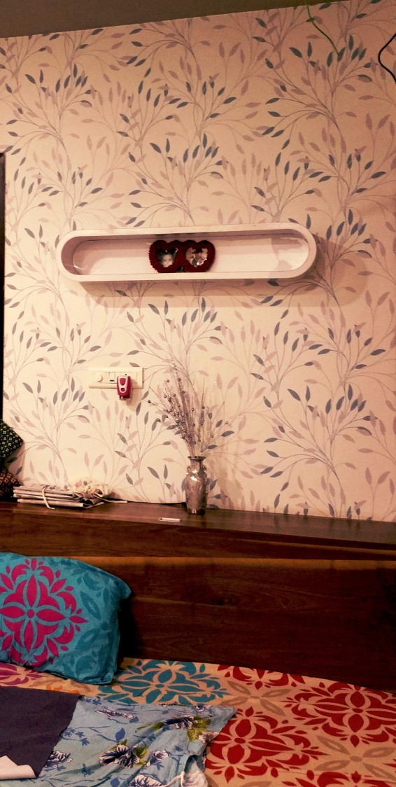 Light Orchid Shaded Bedroom With Wall Decor by Vibhuti Fotedar Bedroom Contemporary | Interior Design Photos & Ideas