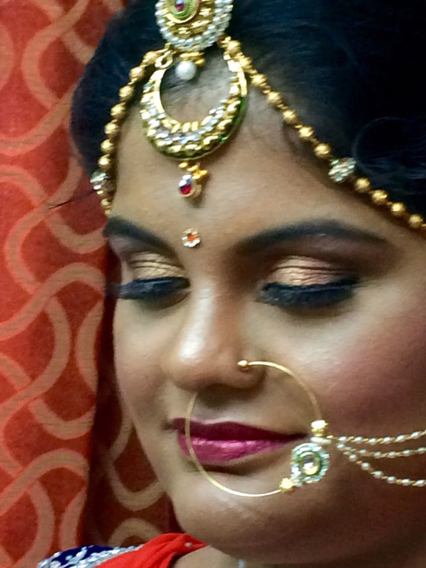 Glinting rouge by Dhruti Raichura Bridal-makeup | Weddings Photos & Ideas