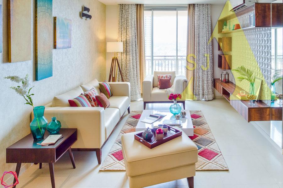 Aesthetic Affair by Suman Living-room Contemporary | Interior Design Photos & Ideas