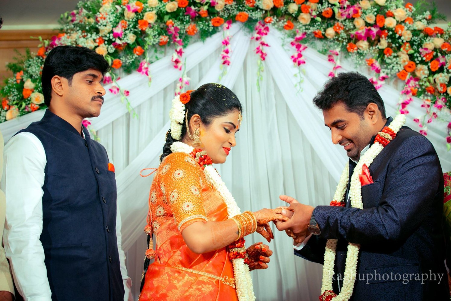 Candid Shot Of The Couple On Engagement Day by Raghu Raj Wedding-photography | Weddings Photos & Ideas