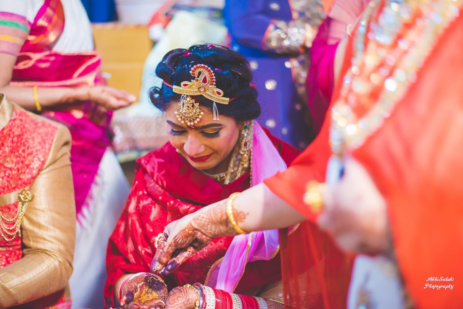 Candid Bride Shot by AbhiSakshi Photography Wedding-photography | Weddings Photos & Ideas