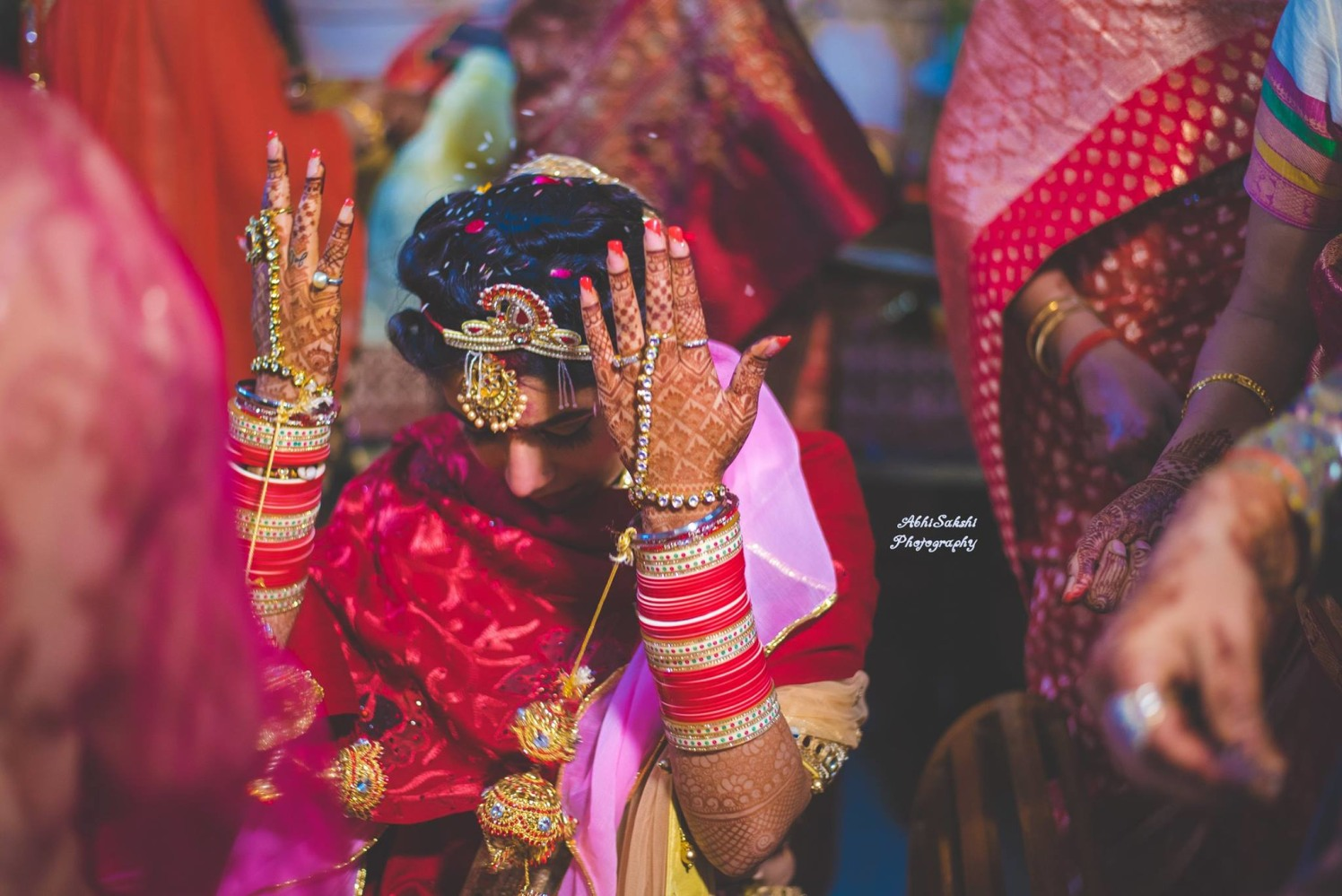 Bride performing ritual by AbhiSakshi Photography Wedding-photography | Weddings Photos & Ideas