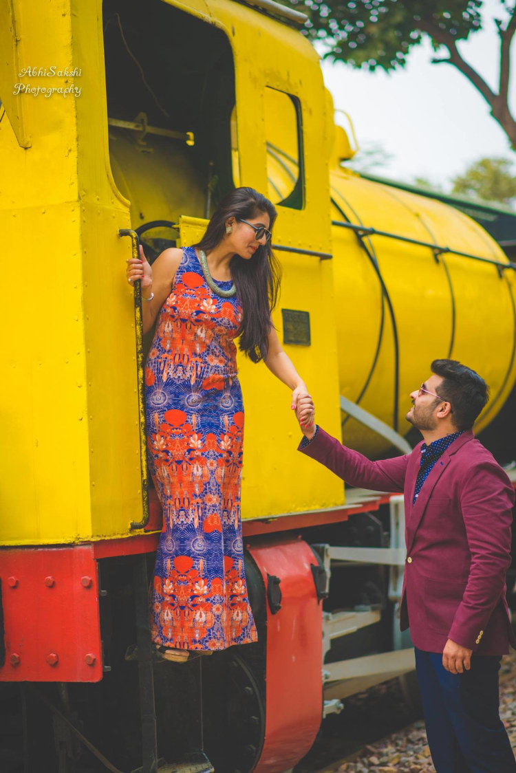 On the Rails! by AbhiSakshi Photography Wedding-photography | Weddings Photos & Ideas